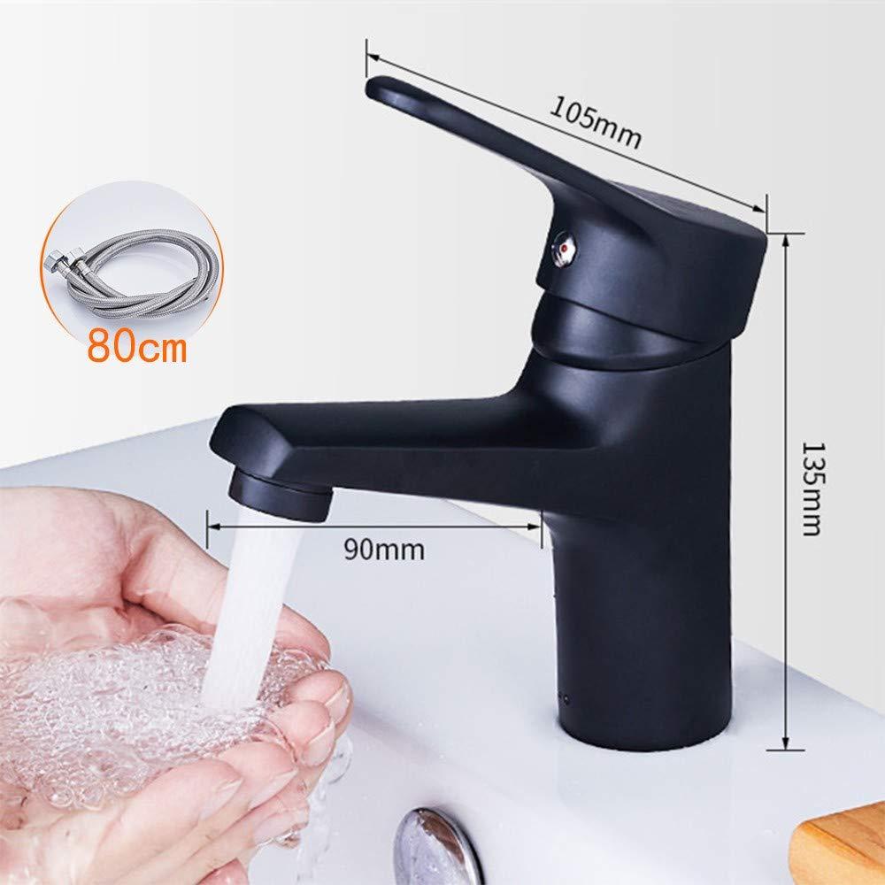 6 Lhxasd Bathroom Brass Chrome Basin Sink Mixer Taps, Single Lever Single Hole Faucet