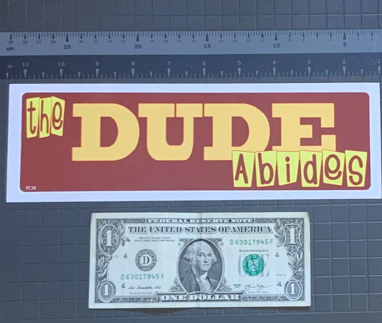Gear Tatz The Dude Abides New Funny Novelty CAR Bumper Sticker//Decal The Big Lebowski Tribute for Cars for Trucks for Adults