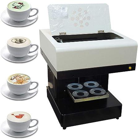 4 cup coffee printer, selfie coffee printer with USB contact edible food printer