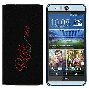 KLONGSHOP // Cubierta de piel con cierre a presión Shell trasero duro de goma Protección Caso - Querría que estés aquí - HTC Desire Eye M910x //