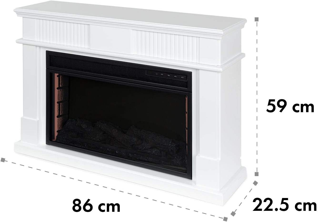 1000//2000 W Thermostat: 10-30 /°C wei/ß LED-Flammenillusion Wochentimer Klarstein Bern Elektrischer Kamin Elektrokamin Fernbedienung Open Window Detection /Überhitzungsschutz MDF-Geh/äuse