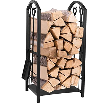 Amazon Com Juvale Firewood Rack With 4 Fireplace Tools Fireplace