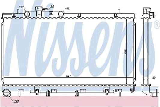 Premium radiador agua radiador motor radiador motor refrigeración para Ford Transit