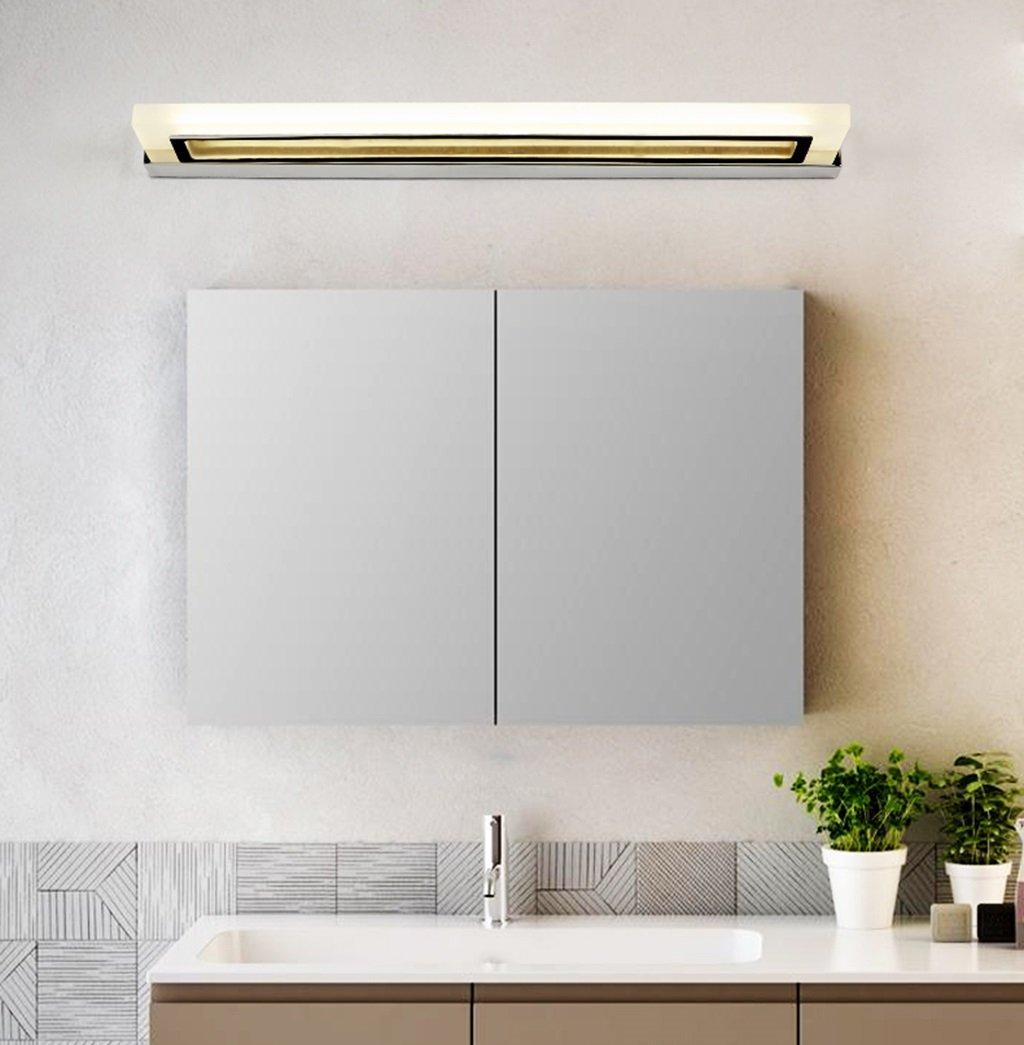 &Spiegelleuchte LED-Spiegel-Scheinwerfer, wasserdichte und Anti-Fogging Badezimmer-Toiletten-Spiegel-Lichter, moderne Wand-Lampen-Hotel-Spiegel-Kabinett-Lichter (Farbe   Chrom-35cm 8W)