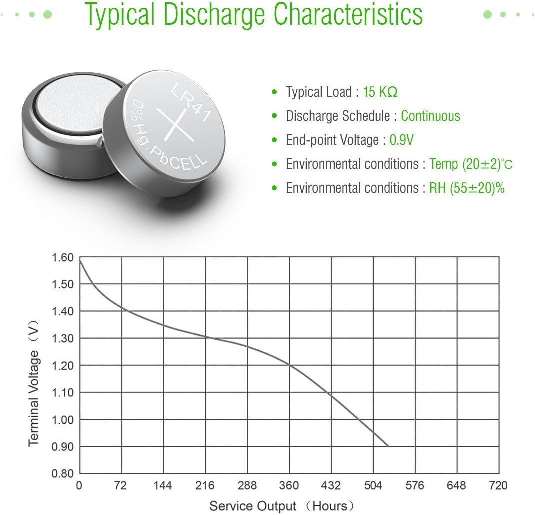EBL 10 Pack LR41 AG3 192 392 384 1.5V Zero Mercury Alkaline Coin Button Cell Batteries