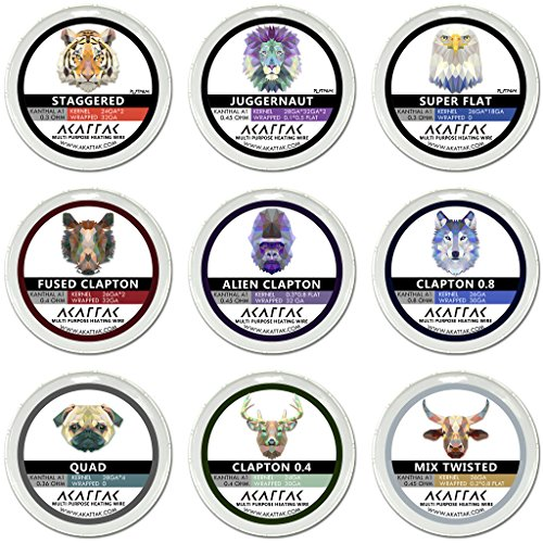 Coil Of Wire - Prebuilt Kanthal Resistance Wire Set 9 Style 78 Piece