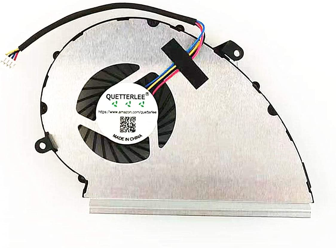 QUETTERLEE Replacement New GPU Cooling Fan for MSI 4-Pin GE72VR GP72VR GL72VR GP72MVR GP72M Series PAAD06015SL N372 Fan