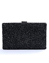 Nodykka Evening Party Rhinestone Embellished Clutches Bag Shinny Cross Body Handbags Purse