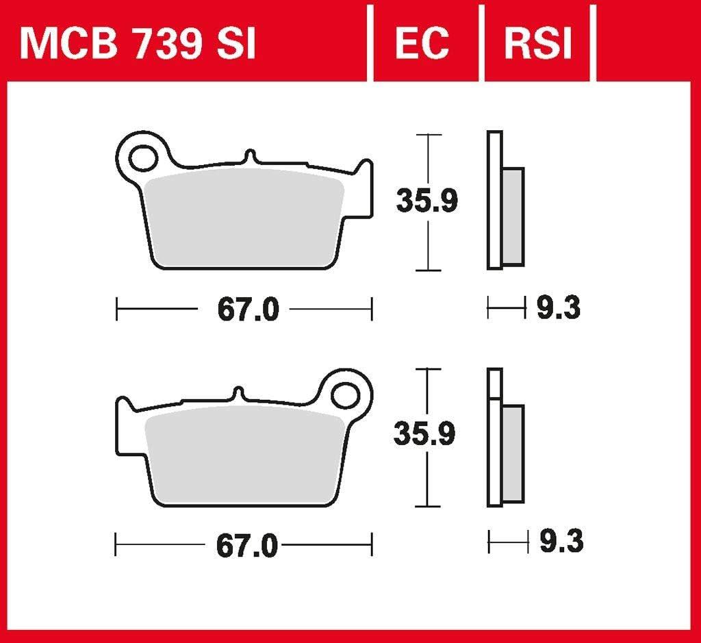 Bremsbelag TRW Sinter Offroad Belag RM-Z 450 RL42A 08-17 hinten
