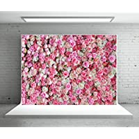 5x7ft Valentines Day Backdrop Wedding Backdrops Pink Red Rose Flowers Photography Backdrop Microfiber Studio Photographers Background Booth Props