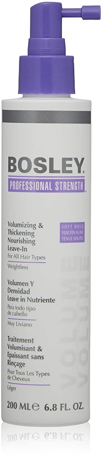 Bosley Volumizing and Thickening Nourishing Leave-in for All Hair Types, 6.8 Ounce 145510
