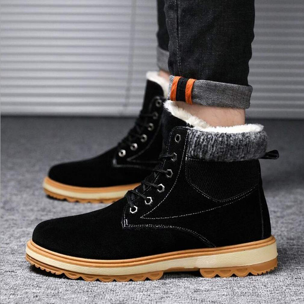 Hy Zapatos Formales para Hombre, Hombre, Hombre, Botas Millin Sandins con Cordones de Winter Mill, Botas de Nieve cálidas a Prueba de Viento, Zapatos Casuales (Color : Negro, tamaño : 41) a332d5