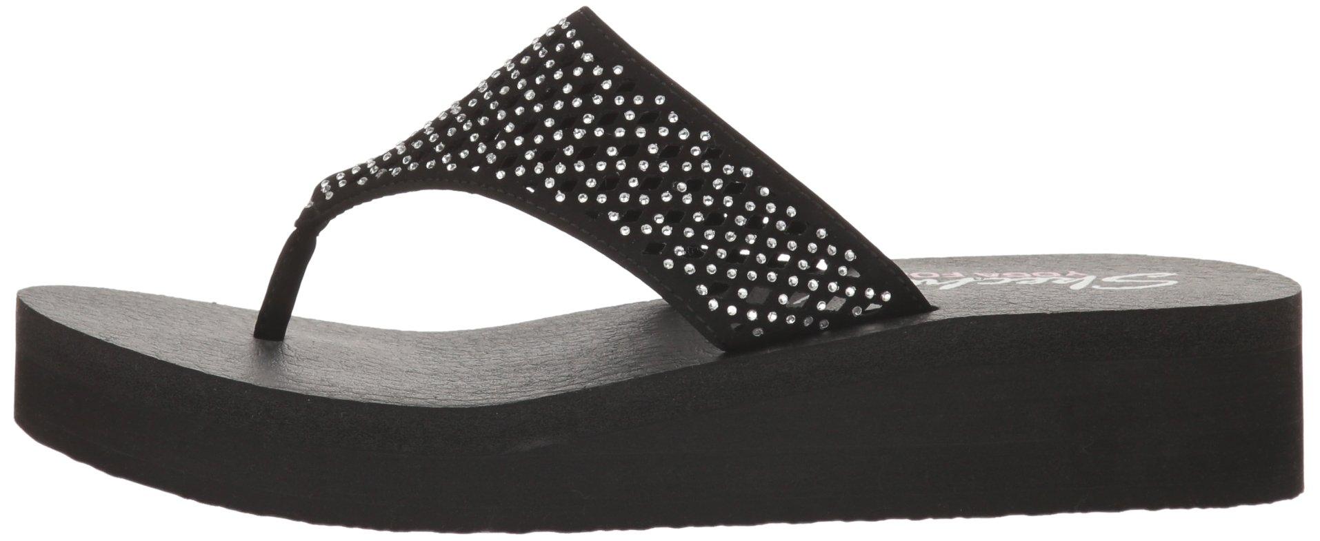 Skechers Cali Women's Vinyasa Flow Wedge Sandal, Black Cutout, 6 B(M) US by Skechers (Image #5)