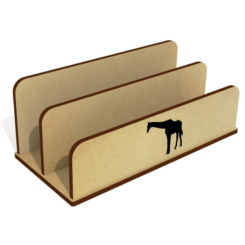 Azeeda Giraffen-Silhouette Hölzern Brief Halter Veranstalter LH00030334