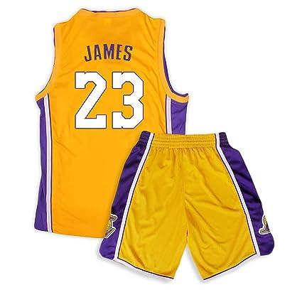 Camiseta de Baloncesto Lakers Lebron James Kobe Bryant Fans de la NBA para niños y Adolescentes Adultos