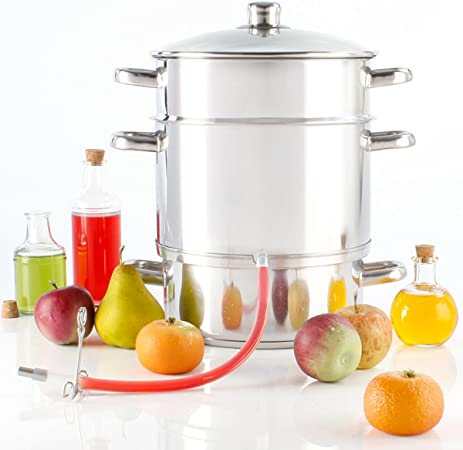 Torrex® 30280 steam juicer Stainless Steel Ø26 cm 15L Dishwasher Approved Usage with All Kinds of Burners use with Induction Burner Possible