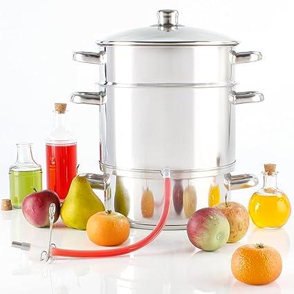 Torrex 30280 Olla al vapor extractora de jugos de acero inoxidable Ø 26/15 L apta para lavavajillas y placas vitrocerámicas - También para inducción