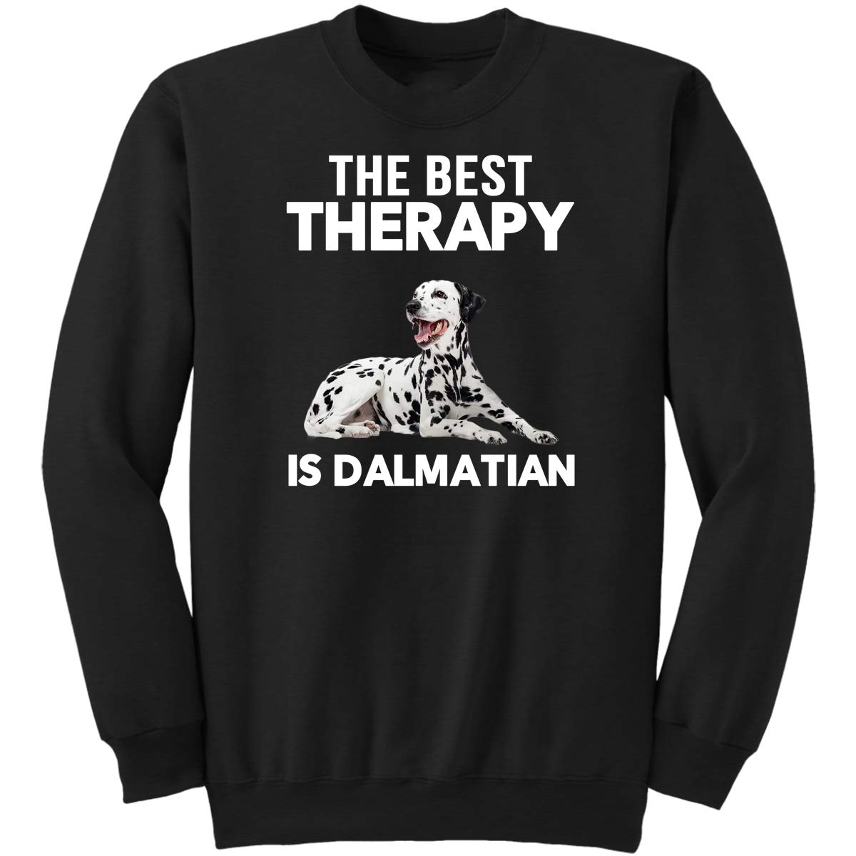 Funny Gifts for Pet Lover Sweatshirt The Best Therapy is Dalmatian Dog