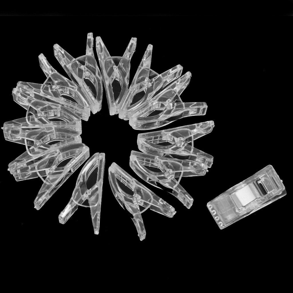 N/äh Handwerks Steppdecke Bindung Kunststoffclips Schellen 50 Stk Klar