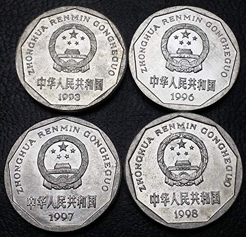 Unbranded LOT of 4X China Coins 1993 1996 1997 1998 1 YI JIAOGREAT Condition