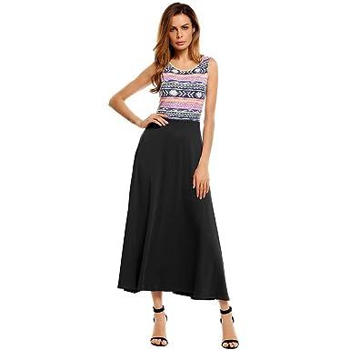 Gorgioous Print Summer Patchwork Women Dresses Beach Long Beach Vestidos