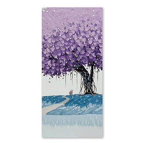 Morado Art árbol de toallas de playa para niños rápido secado Limpieza Toallas de baño de