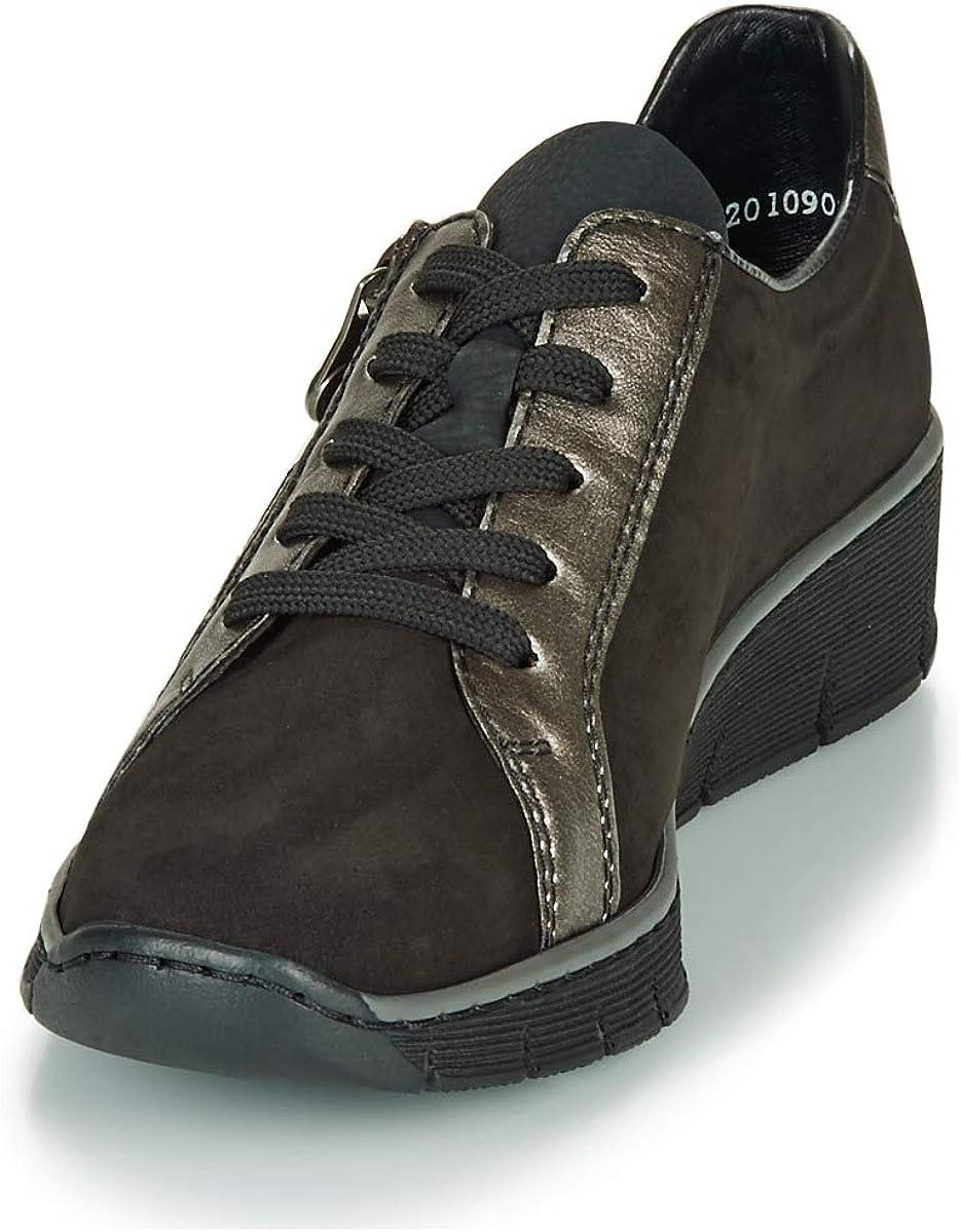 Rieker 53713 02 Sneaker Femmes Schwarz Sneaker Low: Amazon xkMi3