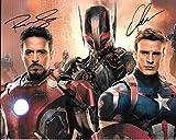 Avengers Robert Downey Jr Iron Man & Chris Evans Signed Autographed 8 X 10 Reprint Photo - Mint Condition