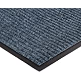 """NoTrax 109 Brush Step Entrance Mat, for Lobbies and Indoor Entranceways, 4' Width x 6' Length x 3/8"""" Thickness, Slate Blue"""
