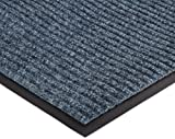NoTrax 109 Brush Step Entrance Mat, for Lobbies and Indoor Entranceways, 4' Width x 6' Length x 3/8'' Thickness, Slate Blue