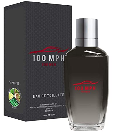 fc111aac9477 Amazon.com : 100 MPH by Preferred Fragrance inspired by COACH BY COACH FOR  MEN : Beauty