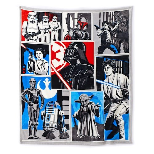 Disney Star Wars Classic Collage Plush Throw Blanket (Throw Collage)