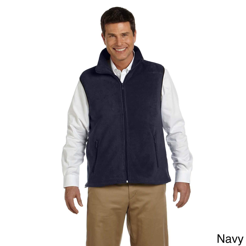 Harriton Mens 8-ounce Lightweight Fleece Vest Black 4XL