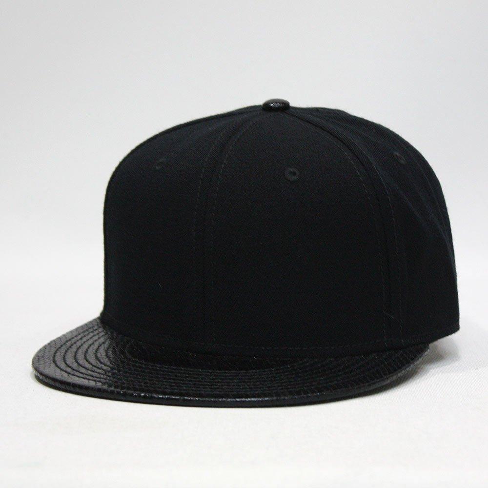 Premium Plain Wool Blend Adjustable Square Flat Bill Snapback Hats Baseball  Caps (Snake Black) at Amazon Men s Clothing store  ac7b3df985c