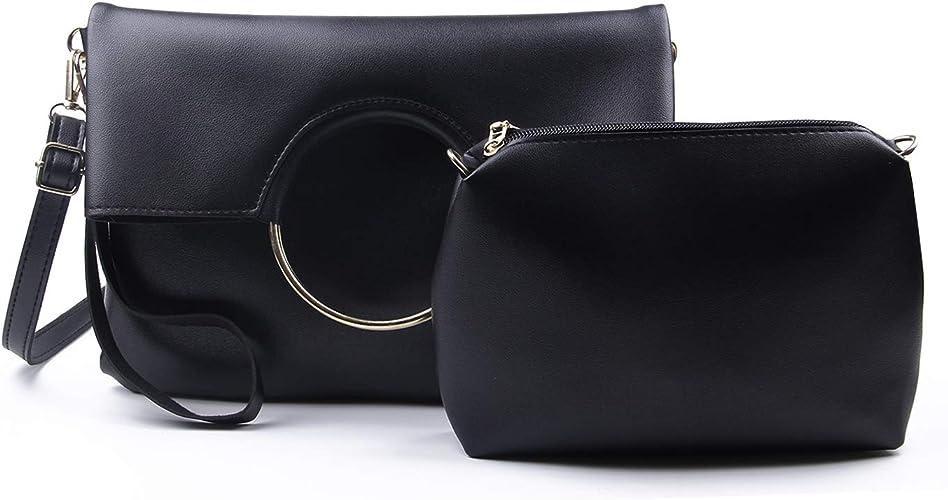 Ladies 2in1  Clutch Handbag