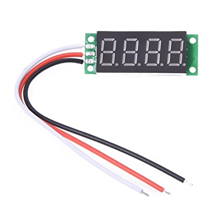 0.36 inches 4 Digit blue LED Voltmeter with Digital Panel 0V-33V