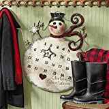 Design Toscano Christmas Decorations - Christmas Countdown Snowman Advent Calendar Metal Holiday Decor Wall Art - Magnetic Calendar
