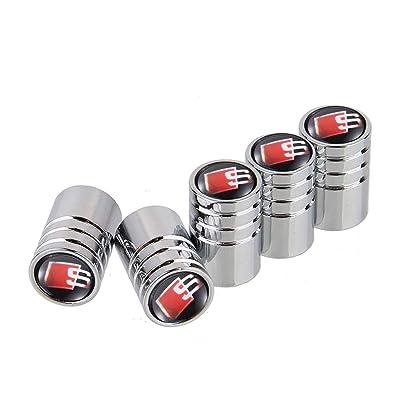 GO-UPP 5pcs S Line Logo Copper Car Wheel Tires Valve Stem Caps Covers for Audi S Line S3 S4 S5 S6 S7 S8 A1 A3 RS3 A4 A5 A6 A7 RS7 A8 Q3 Q5 Q7 R8 Car Styling Decoration Accessories: Automotive [5Bkhe0408756]