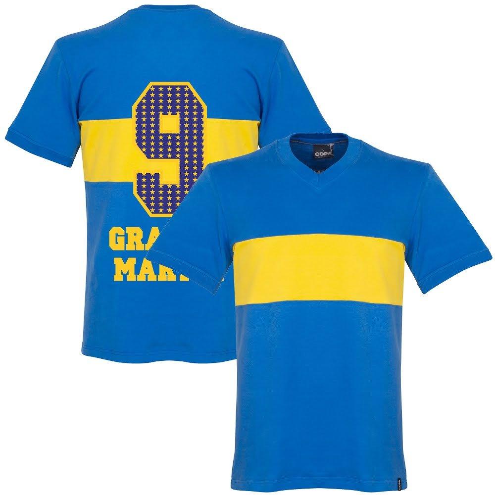 1960's Boca Juniors Retro Trikot + Gracias Martin 9 (Special Edition Printing)