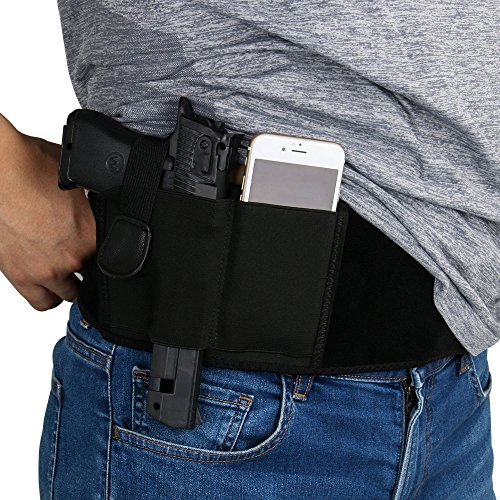 ZHW Adjustable Women Men Band Holster For Concealed Carry ,Hand Gun Elastic Holder For Pistols ,Waist Band Handgun Carrying System (Right) (Shoulder Strap Gun Holster Costume)