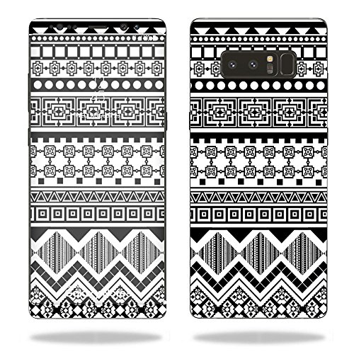 MightySkins Skin Compatible with Samsung Galaxy Note 8 - Black Aztec   Protective, Durable, and Unique Vinyl Decal wrap Cover   Easy to Apply, Remove, and Change Styles   Made in The USA