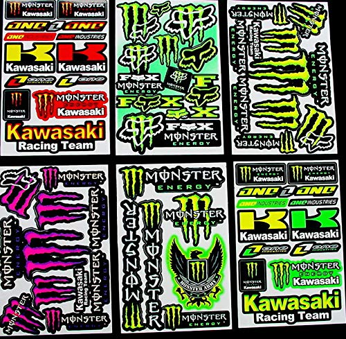 bikeworld 6 sheets motocross stickers 6kl1 MX Energy Drink Graphic Stiker Bike BMX Scooter Decal great BUMPER PACK gift