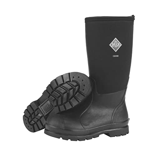 The Original MuckBoots Adult Chore Hi-Cut Boot Black Waterproof Boots (12 M US / Women's 13 M US)