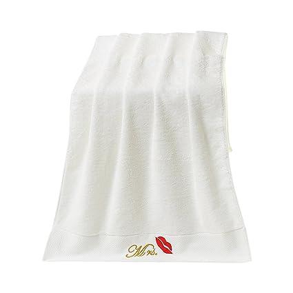 Par cara toalla de mano bordado toallas de Sr. Sra. Mano de 35 x