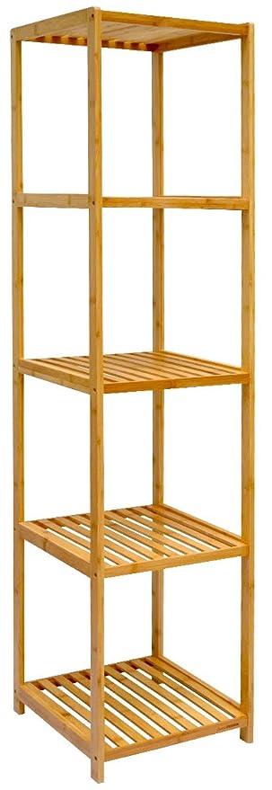 Dunedesign Xl Bambus Holz Regal 162 5 X 38 X 39 5 Cm 5 Facher Stand