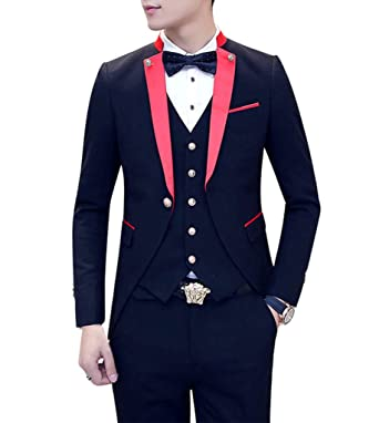 a95da5f232f9 MOGU Mens Tail Tuxedo 3 Piece Suit at Amazon Men's Clothing store: