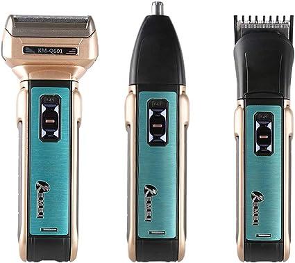 Kemei KM-Q601 afeitadora eléctrica portátil 3 en 1 para hombre ...