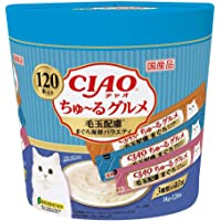 Ciao Seafood Variety Recipe for Hairball (120Pcs),
