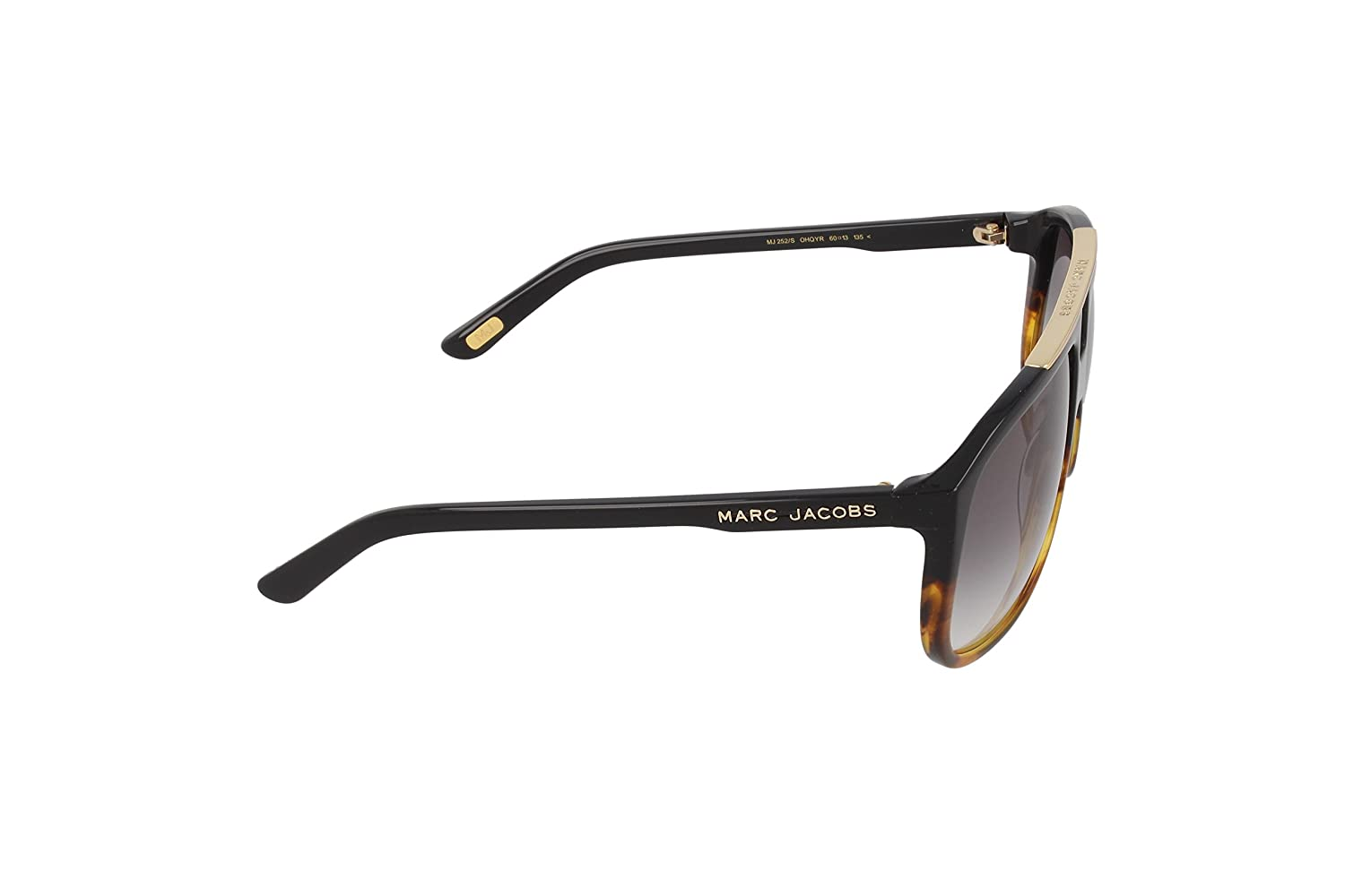 95c608bdbf77 Marc Jacobs Aviator Sunglasses (Black and Brown) (MJ-252 S-OHQYR)   Amazon.in  Clothing   Accessories