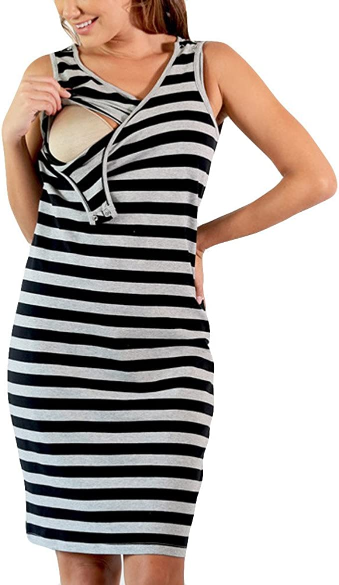Premam/á Vestido de Lactancia STRIR Mujeres Maternidad Casual Lactancia Materna Vestido